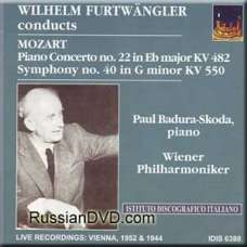 Mozart - Piano Concerto No. 22 in Eb major KV 482/Symphony No. 40 in G minor KV 550 - Wilhelm Furtwangler (CD)